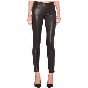 J Brand Edita Mid-Rise Leather Legging Navy Size L